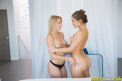 Sexy dani daniels gets free lesbian kneading