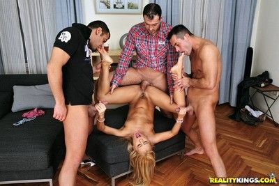 Teen pretty good nikky thorne wants on touching have 3 guys burgeoning her