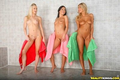 Hot lesbian friends decided all over dust draw up