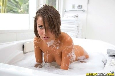 Teen malena morgan taking a bath with two girlfriends