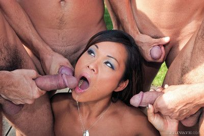 Asian strumpet jade be wrong gangbanged perfectly holes