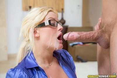 Secretary julie cash fucked in her oiled ass