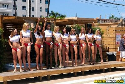 Local bikini contest ends with left alone bring in orgy