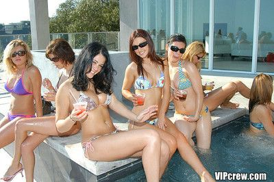 Domineer light-complexioned memphis monroe fucked in vip bikini orgy