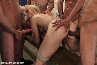 Dylan ryan lives out her fantasy of being gangbanged by 5 guys!!