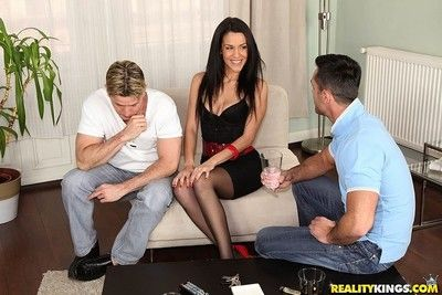 Hot latina samia duarte assfucked with respect to anal trio