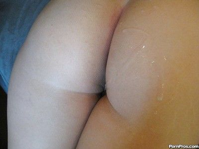 Girlfriend Alexis Texas sucks hungry dick and gets cum on the top of her ass