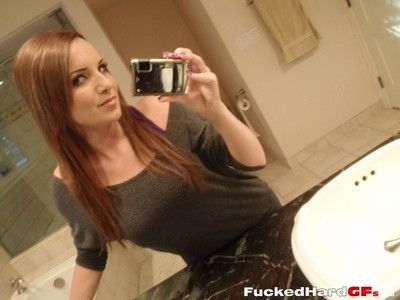 Appealing amateur cookie takes nude self shots of her young teen interior