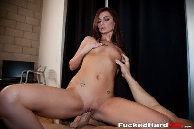 Skinny girlfriend type licks a dick and gets selfish cunt hole pounded