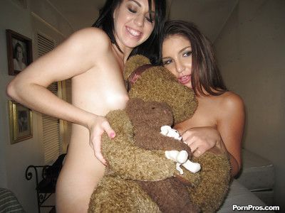 Teen girlfriends Giselle Leon and Megan Piper are having an lesbian sexual intercourse
