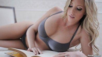 Hot girlfriend insensate Samantha Saint flashing her sexy pierced nipple