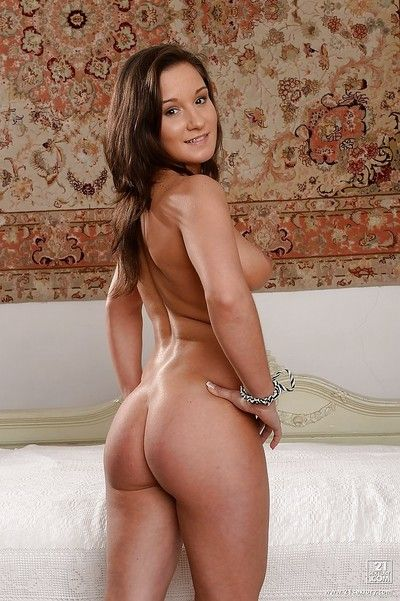 Slender European cookie Myrna Joy showing her fantastic ass