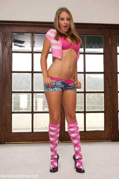 When 19 year grey lizzy london with the brush big innocent tits comes regarding to make application for