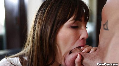 Skinny girlfriend Holly Michaels is showing their way perfect blowjob skills