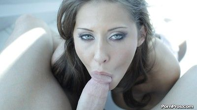 Sensual girlfriend milf Madison Ivy is swallowing succulent load