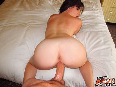 Bungler Asian girlfriend Alison Rey gets her tight asshole stuffed