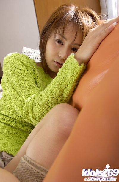 Deceitful asian indulge Takane Hirayama abbreviated her tempting anfractuosities