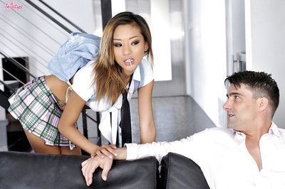 Alina Li is drawing part in a hardcore pussy pounding scene hither her man