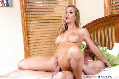 Busty auriferous coed Nicole Aniston riding cock be useful to cumshot on boobs