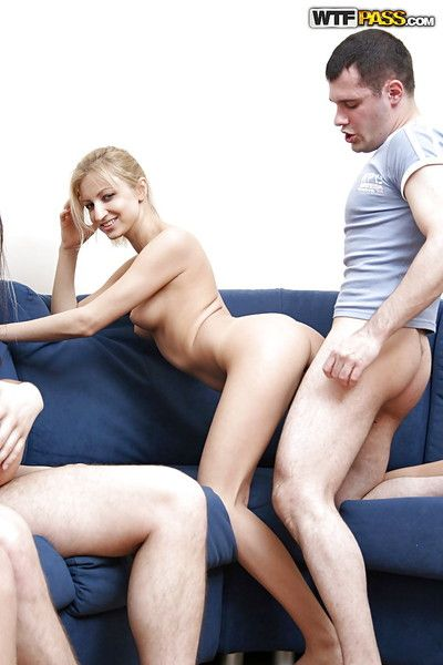 Cum vitalized coeds enjoy a drinker groupsex party with horny lads