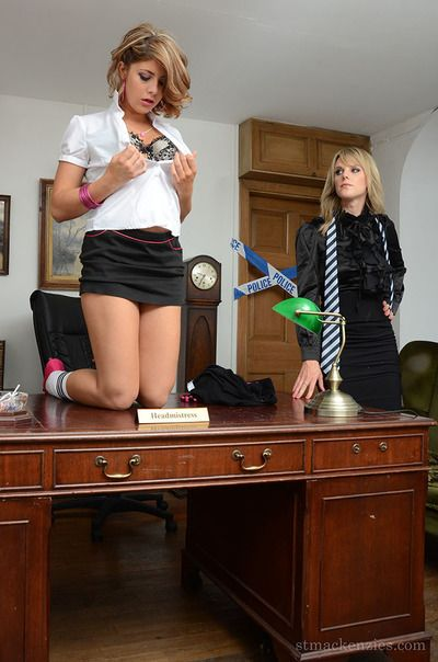 Patriarch and younger blondes Lizzie Gibson and Headmistress Mackenzie