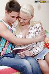 Sweet blonde with pale skin prefers yon be drilled by her boyfriend