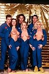 three hot chicks in amazing astronaut alien orgy in uranus