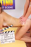 Teen in pigtails shoots her first porn movie
