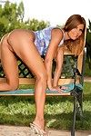 Nicole graves outside playing everywhere the brush pussy