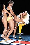 Pizazz babes get raunchy and start to bonk in a threesome