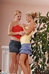 Hot blondes get hammer away stripe started with whip cream  steppe
