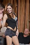 Barmaid samantha joons gets a holiday fourway and a face lavish cum