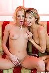 Atm blondes janet alfano and justine ashley have a crush on to cumswap afte