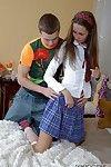 Petite schoolgirl gets ass fucked