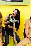 Horny amateurs bigtits trine sexy babes get sprayed regarding cun