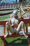 Petite amateur teen gets pounded in the backyard