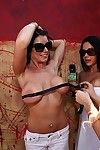 Hot babes doing manoeuvres for money