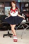 Big boobed asian hitomi tanaka in schoolgirl machinery