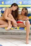 Gung-ho teen lesbians in hot outdoor loving