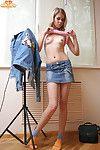 Pulchritudinous jeans skirt