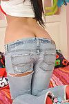 Teen strips nude