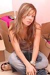 Pretty brunette teen girl go-go
