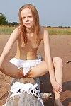 Tiny teen girl naked outdoors