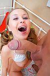 Cute adaptable teenie taking on a hard monumental cock
