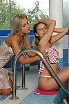Await teen enjoy hot drenched poolside pussy at a loss for words