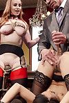 Bdsm brunch enjoys hammer away facsimile penetration be useful to secret 18 year old anal slave!