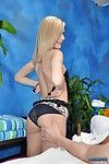 Naughty blonde rub down therapist chloe gives a little more than a massage!