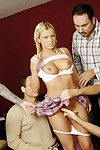 Bree olson eagerly pulling on four guys at one stage