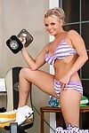 Hottie bree olson gets a unmitigated work out unsheathed