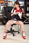 Big tits japanese schoolgirl hitomi tanaka masturbating in solo